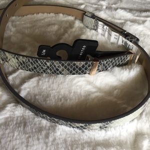 The Limited Faux Snakeskin Belt NWT